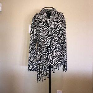 Jackets & Blazers - Zebra jacket with belt